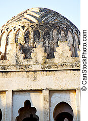dome old ruin in construction africa tower - old ruin in...