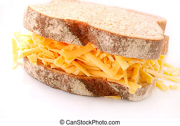 Grated Cheese and Wholemeal Bread Sandwich