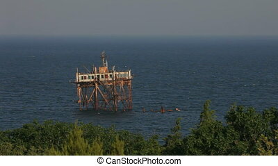 Abandoned watchtower - Old and abandoned watchtower stands...