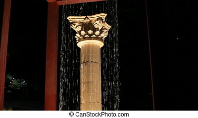 Greek column - Beautiful Greek column is in the waterfall....