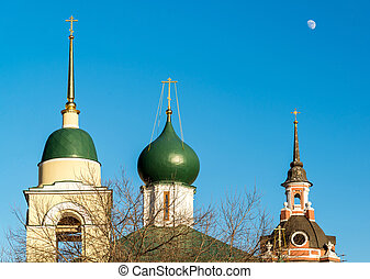 Maxim Cathedral and St. George Church in Varvarka Street,...