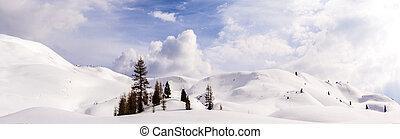 Dolomite mountains, Sella pass - Italy, Dolomite mountains,...