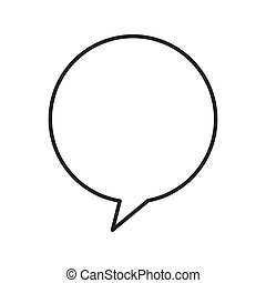 speech bubble chat isolated icon vector illustration design