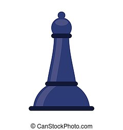 chess bishop isolated icon vector illustration design