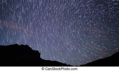 Band of stars. Time Lapse. 4K