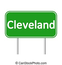 Cleveland green road sign. - Cleveland green road sign...