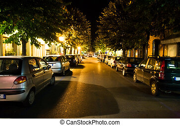 Night street of resort city
