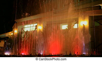 Beautiful dancing fountains