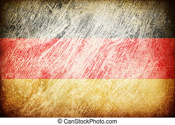 Grunge rubbed flag series of backgrounds. Germany.