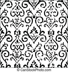 Vector Distressed Floral Pattern - Vector distressed floral...