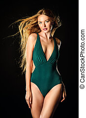 beautiful slender woman