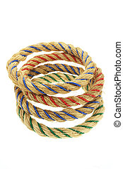 Ring Toss Game Ropes on White Background