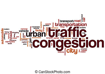 Traffic congestion word cloud