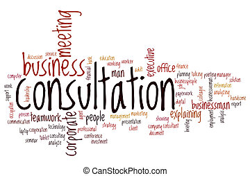 Consultation word cloud concept