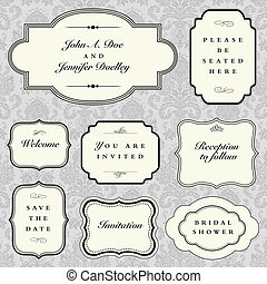 Vector Sample Frame Set - Set of vector ornate frames with...