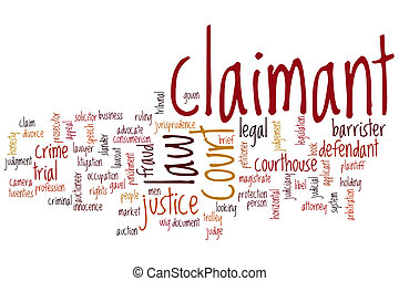 Claimant word cloud concept