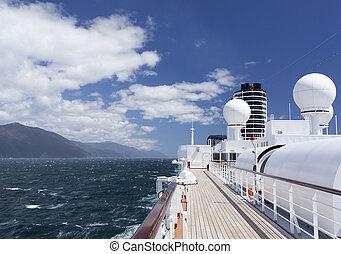 Cruising Around New Zealand - The cruise liner traveling...