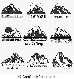 Mountain vector icons
