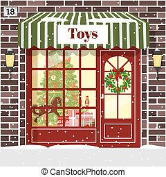 Christmas Toy shop toy store building facade