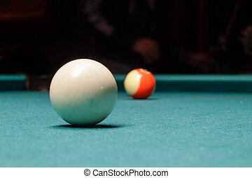 Billiards plastic balls on table - Photograph of some...