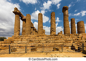 Ancient Greek Temple of Juno in Agrigento - Ancient Greek...