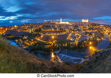 Panorama of Toledo, Castilla La Mancha, Spain - Panorama of...
