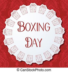 Boxing day background - Vector boxing day background