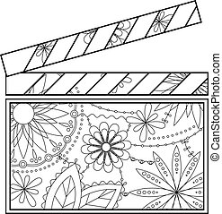 Clapperboard coloring - Vector clapperboard coloring