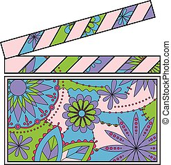 Clapperboard colorful - Vector clapperboard colorful