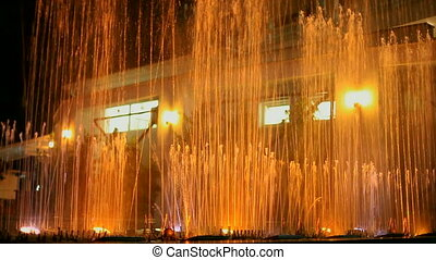 Beautiful fountain - Beautiful night fountain works...