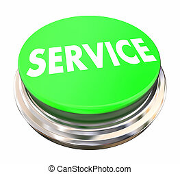 Service Good Preferred Best Company Business Green Button 3d...