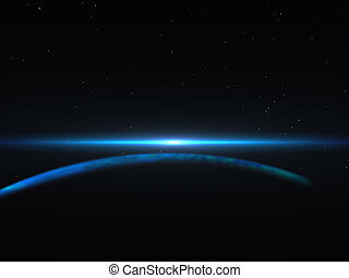 background with flash in orbit