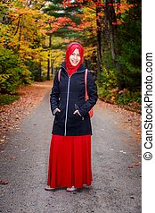 musulman, femme, dans, nord, amérique