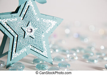 Blue cardstock Chistmas star - craft paper star Christmas...