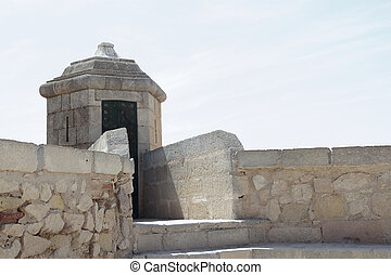 sentry box in santa barbara castle