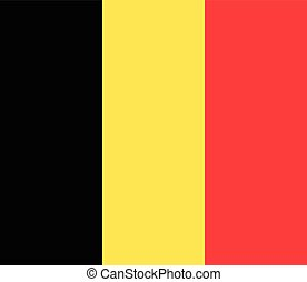 Official vector flag of Belgium . Kingdom of Belgium .