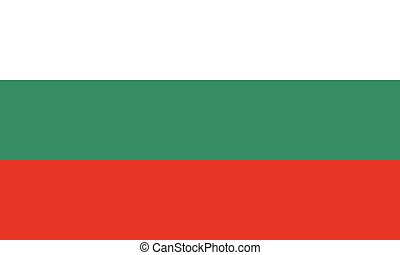 Official vector flag of Bulgaria . Republic of Bulgaria .