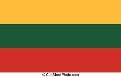Official vector flag of Lithuania . Republic of Lithuania