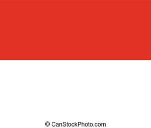 Official vector flag of Monaco . Principality of Monaco .