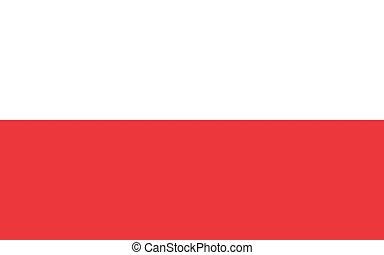 Official vector flag of Poland . Republic of Poland .