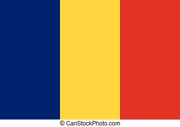Official vector flag of Romania .