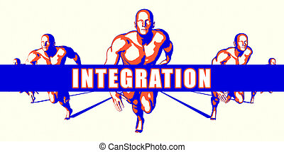 Integration as a Competition Concept Illustration Art