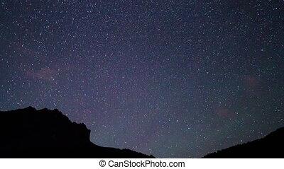 Starry Night. Pamir, Tajikistan. 4K