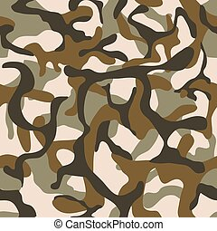 Camouflage, military camo vector seamless pattern