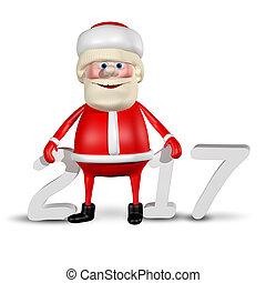 3D Illustration Jolly Santa Claus_2017 - 3D Illustration...