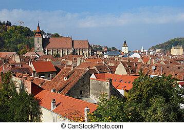 Medieval city of Brasov, Romania - Old center of Brasov city...