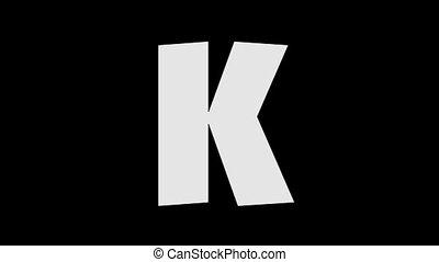 Letter K and Kangaroo (background) - Animated animal English...