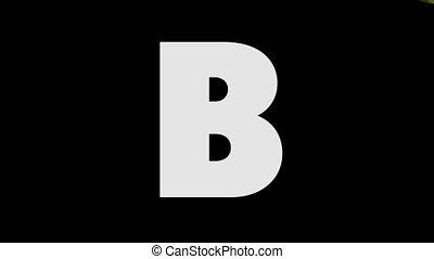 Letter B and Bird (background) - Animated animal English...