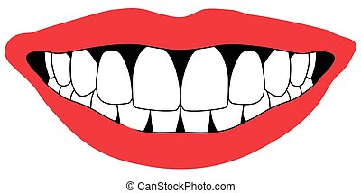 lips front teeth open mouth white front teeth dentistry...