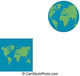 Earth globes isolated
